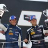 Brickyard Podium for Visit Florida Racing